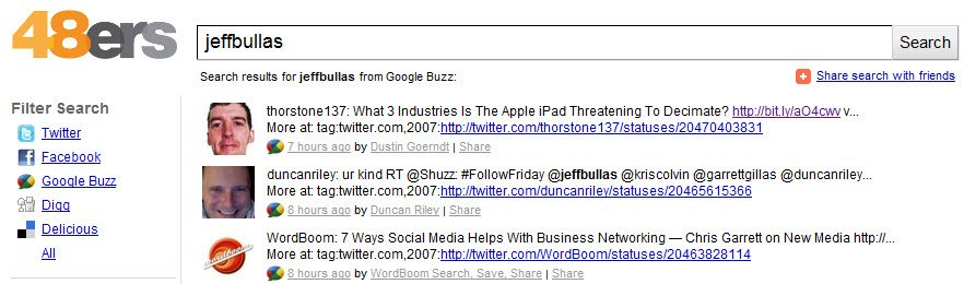 48ers jeffbullas monitoring on social media Google Buzz