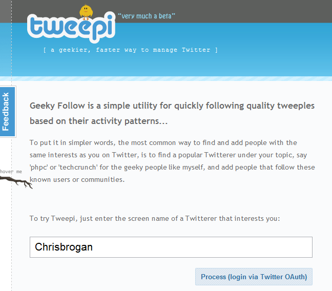Twitter Tool For Following Tweepi.com