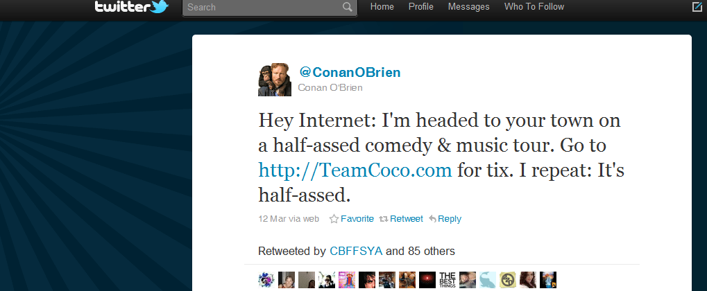 10 Most Powerful Tweets Of 2010 Tweet 10 Conan OBrien