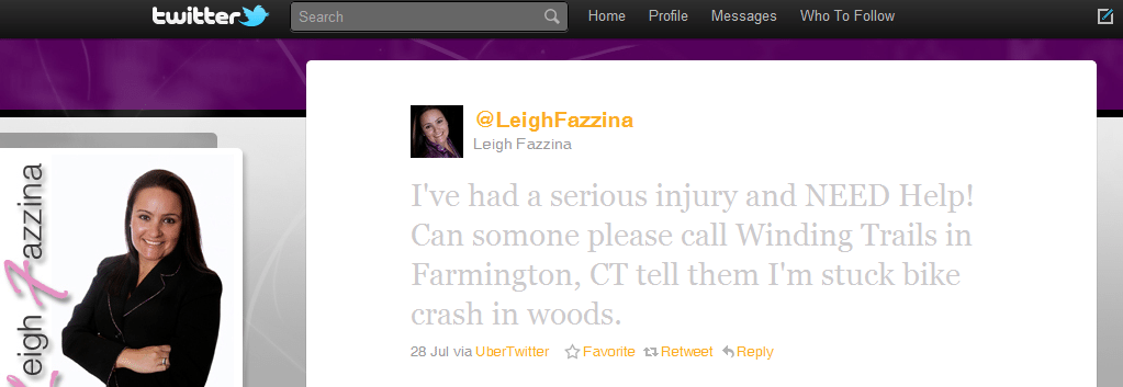 10 Most powerful tweets of 2010 tweet 3 Leigh Fazzina