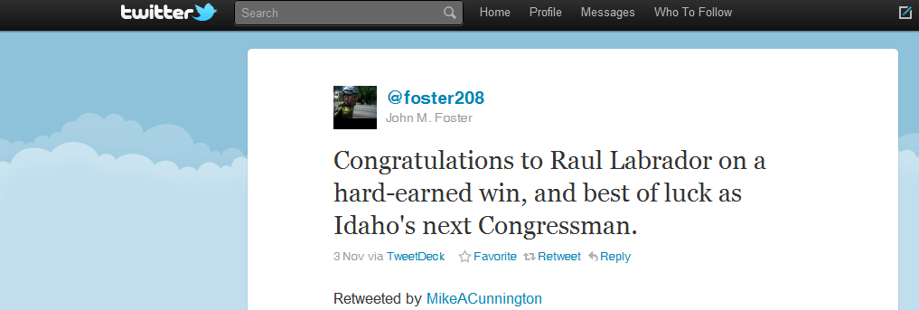 10 Most Powerful Tweets 2010 Tweet 8 John Foster US Elections