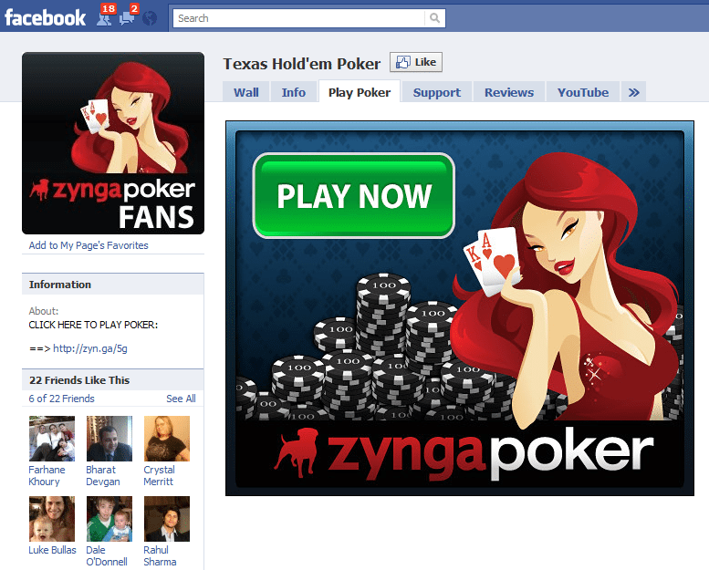 The Worlds 10 Fastest Growing Facebook Sites 1 Zygna Poker