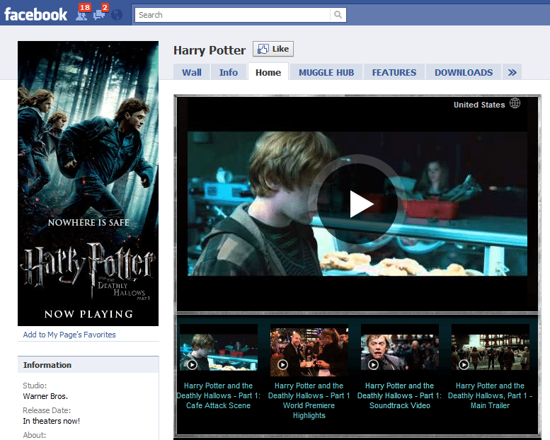 The Worlds 10 Fastest Growing Facebook Sites 6 Harry Potter