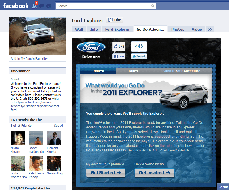 Ford Facebook Reveal Marketing Campaign