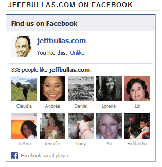 Jeffbullas.com Facebook Page Social Plugin