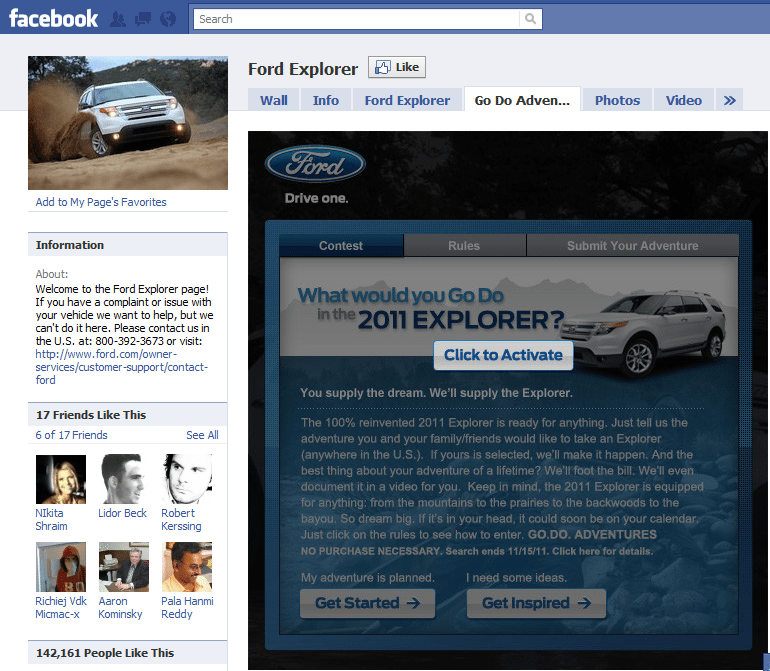10 Best Facebook Campaigns Ford Explorer