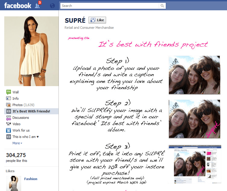 Facebook Supre Zero to 40000 fans