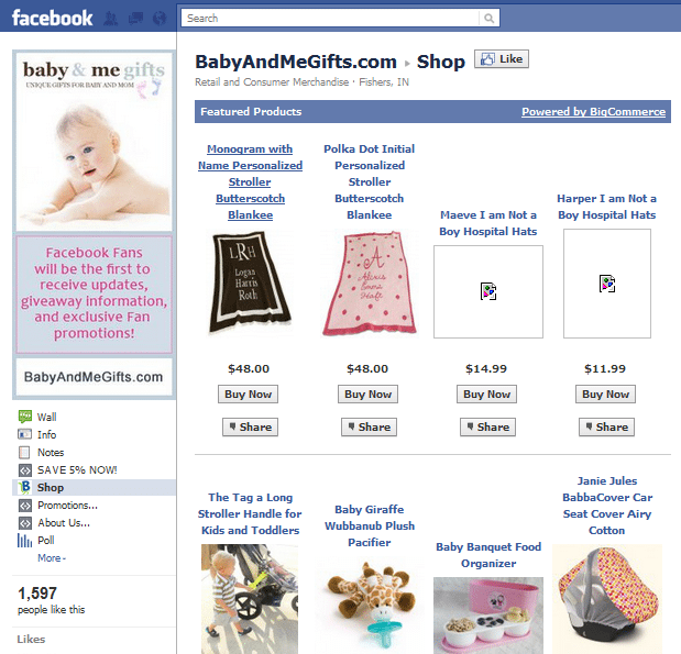 F-Commerce Is Facebook The New Shop Baby and Me Gifts