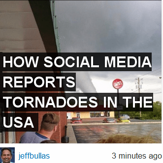 How Social Media Reports Tornadoes In The USA
