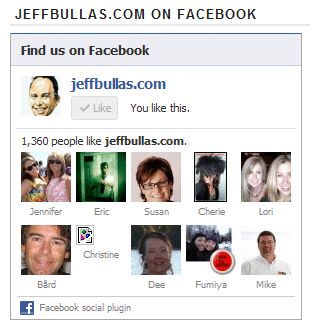 Facebook Social Plugin at JeffBullas.com