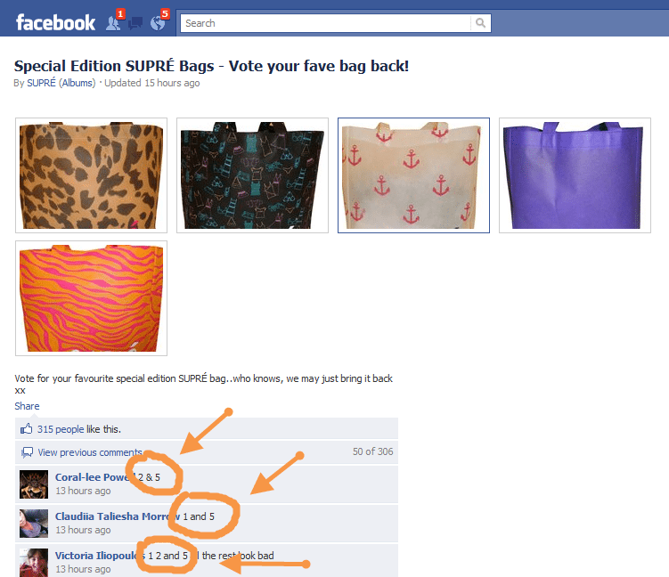 Facebook Supre Product Surveys real time forum
