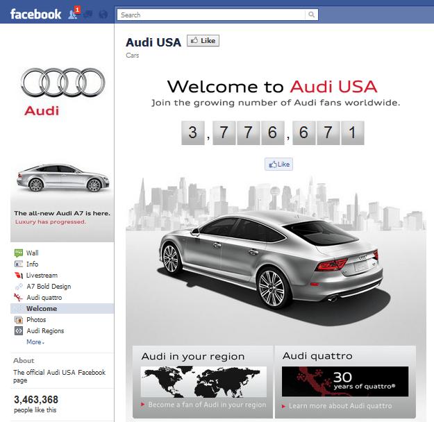 Audi Facebook Page
