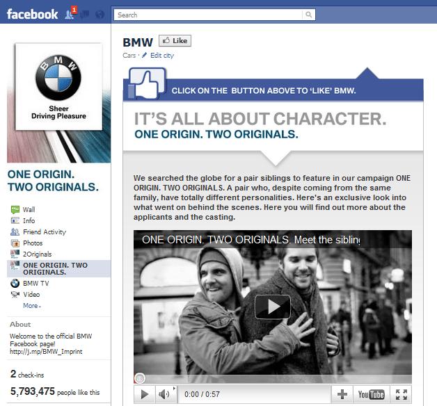 BMW Facebook Page