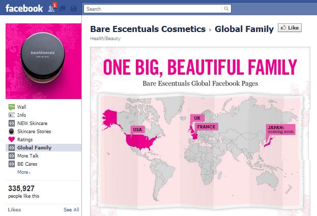 Bare Escentuals Facebook page