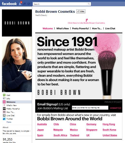 Bobbi Brown Facebook Page