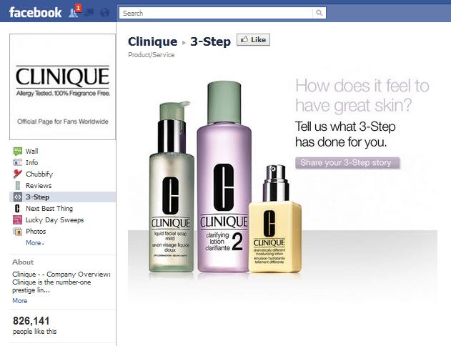 Clinique Facebook Page