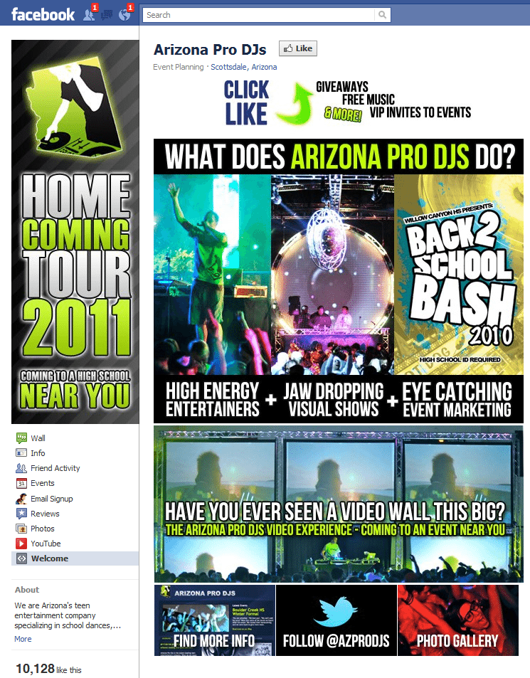 Arizona Pro DJ Facebook Page