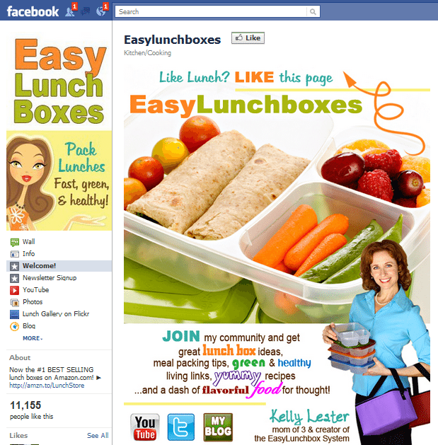 Easy Lunch Boxes Facebook Page