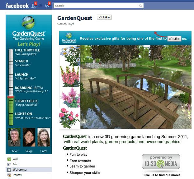 GardenQuest Facebook Page
