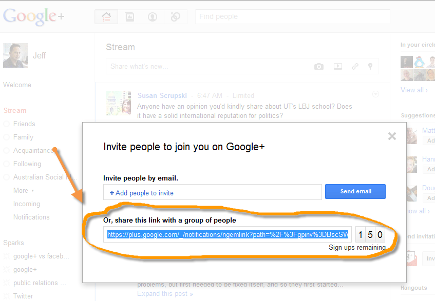 How to Invite Your Friends to Google + Using Twitter easily