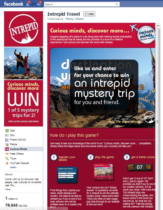 Intrepid travel Facebook Page