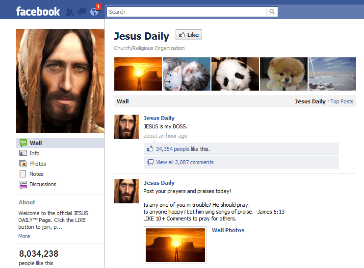 Jesus Daily Facebook Page