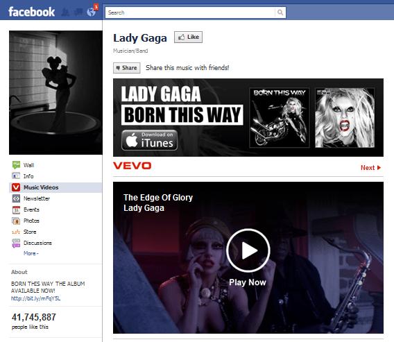 Lady Gaga Facebook Page