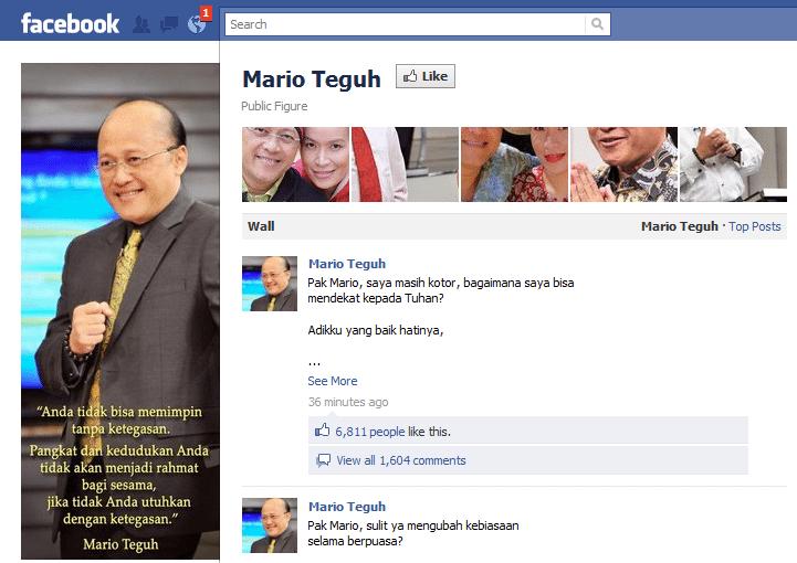 Mario Teguh Facebook Page