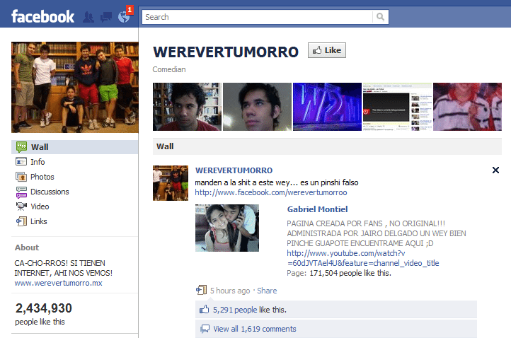 Werevertumorro Facebook Page