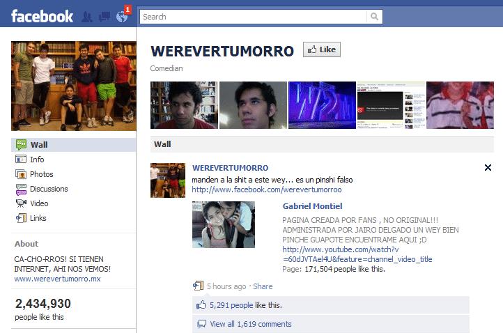 Werevertumorro Facebook Page