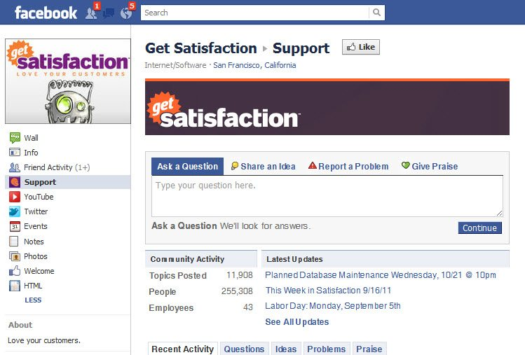 Facebook as a Customer service channel