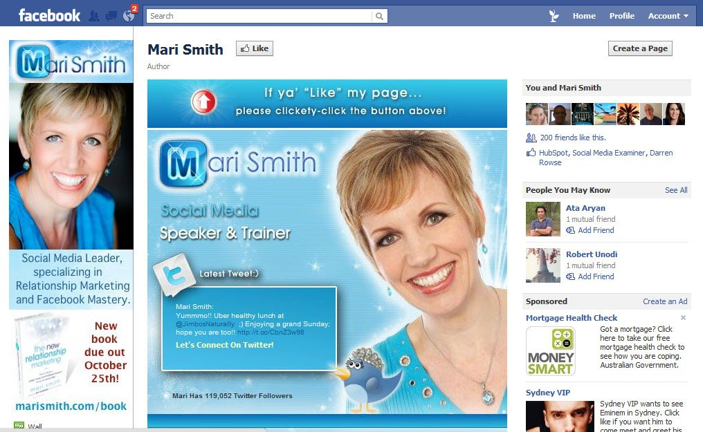 Mari Smith Personal Brand Facebook page