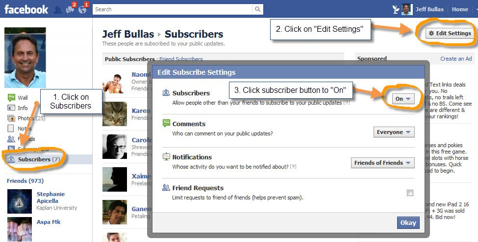 How to enable your Facebook subscribe button