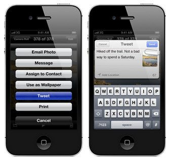 Twitter now embedded in the Apple IOS5 Operating system for mobiles