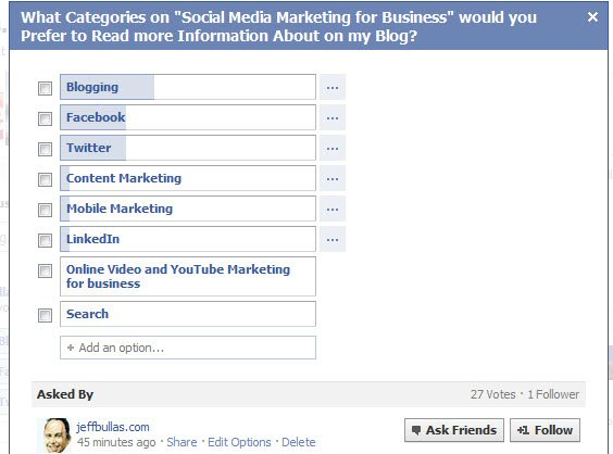 Ask Questions on Facebook to improve your business