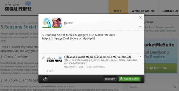 Buffer 5 Tools to Increase your Social ROI