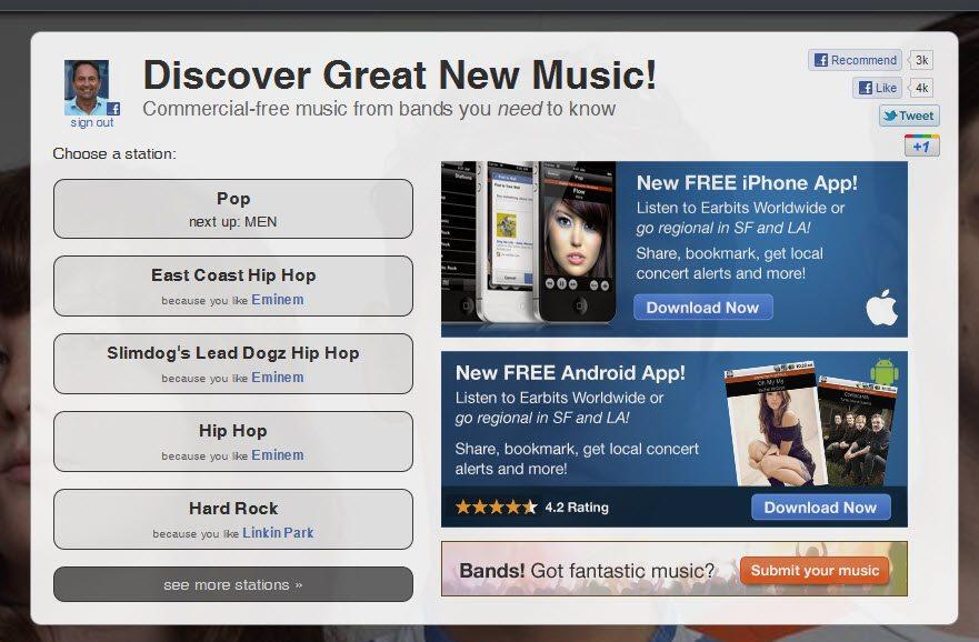 Earbits Social App