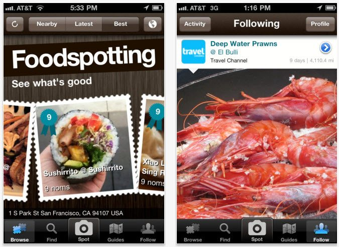 Foodspotting mobile app