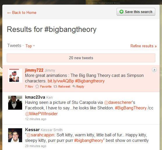 Hashtags from Big Bang Theory