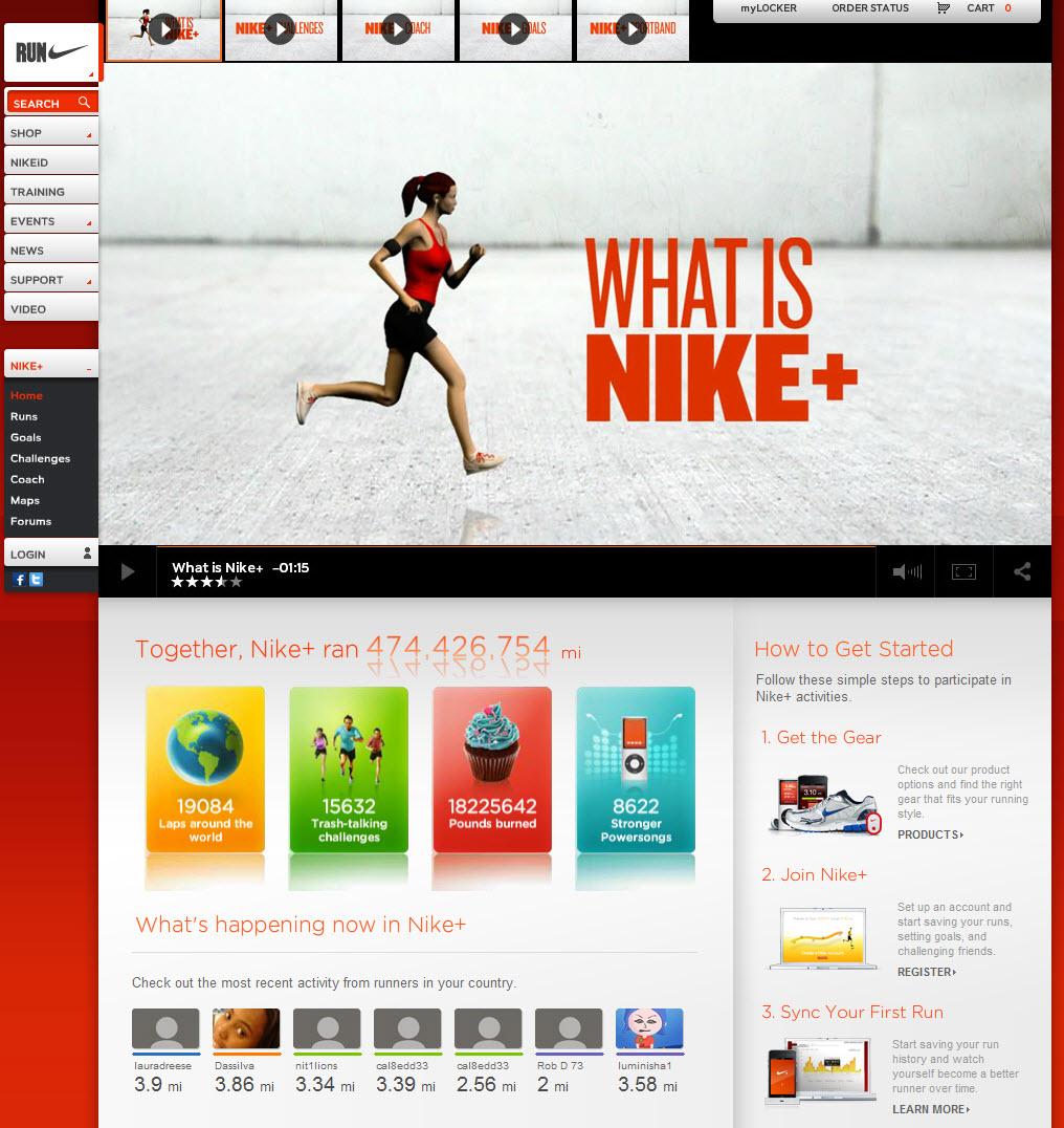 Nike+ Facebook Social App