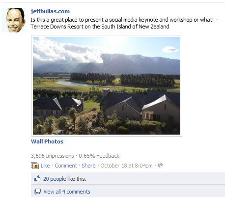 Posting photos to facebook drives engagement and interaction
