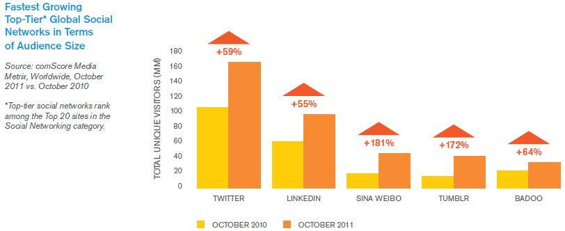 Fastest Growing Top Tier Social Media Networks