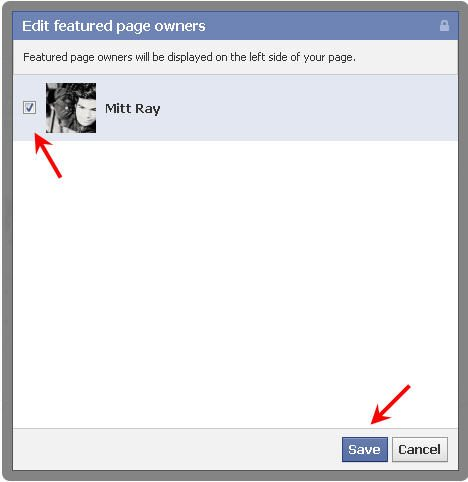 Facebook choose page owners