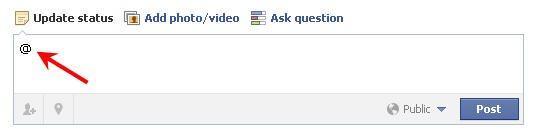 Facebook mention a friend