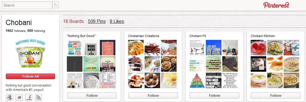 Chobani Pinterest