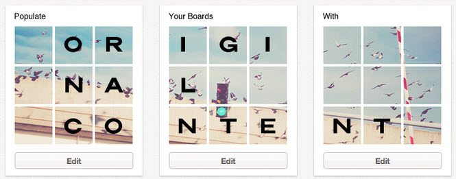 how to add original content to pinterest