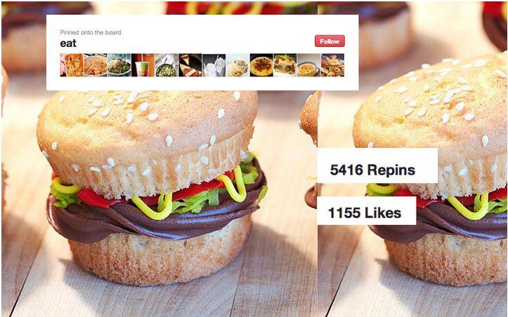 Pinterest repinned versus liked