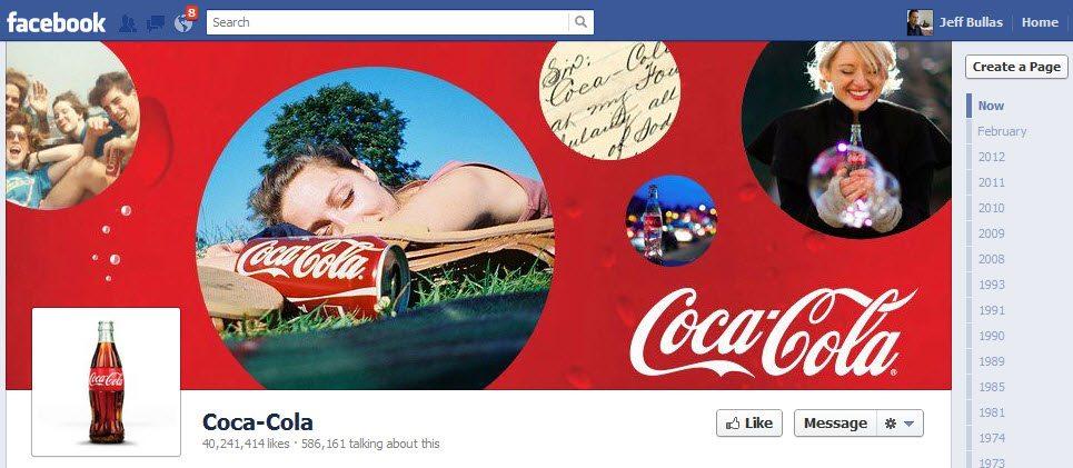 Coca Colas Facebook Page Cover Image