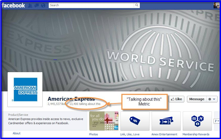 American Express Facebook Page