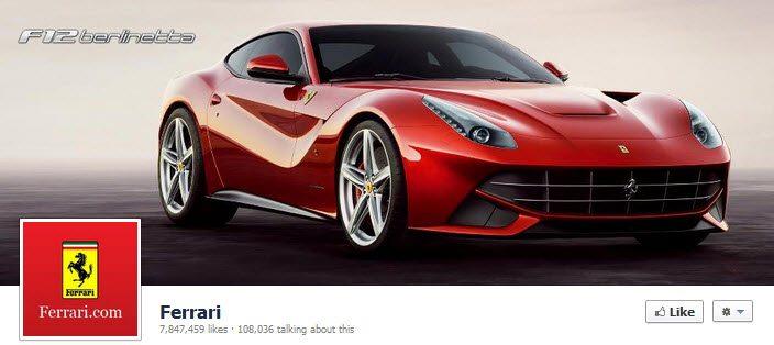 Facebook Ferrari